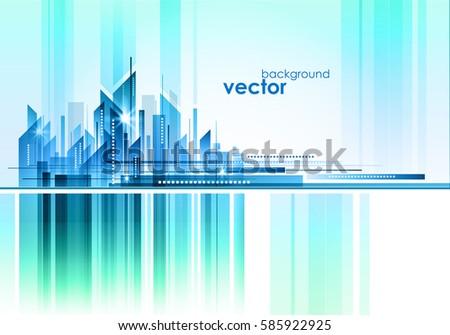 Night Cityscape, vector illustration