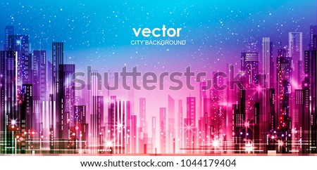 night cityscape with