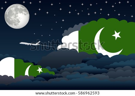 night clouds with pakistan