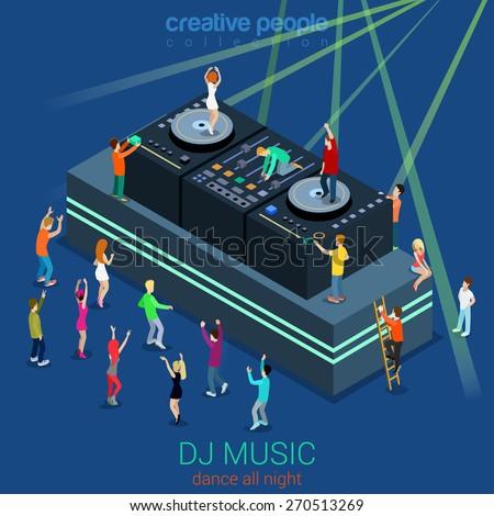 night club dance dj booth party