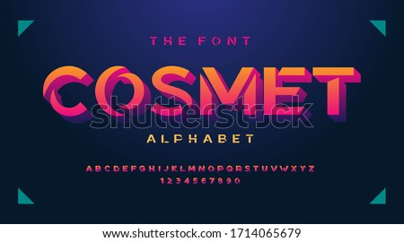 Night club fonts and alphabet, retro 80s 90s luxury expensive sport minimal classic urban modern futuristic typeface typo typography and number, uppercase lowercase. Vector illustration.