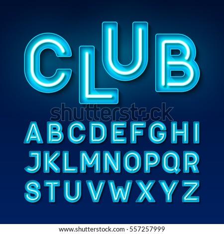 night club neon font  broadway