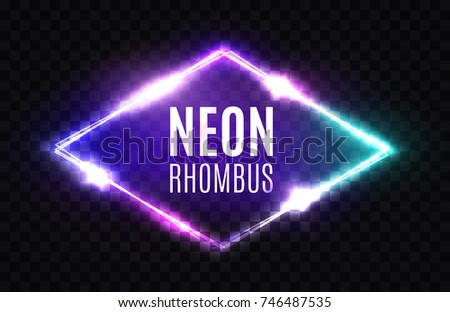 night club neon rhomb 3d retro