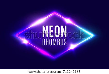 night club neon rhomb retro