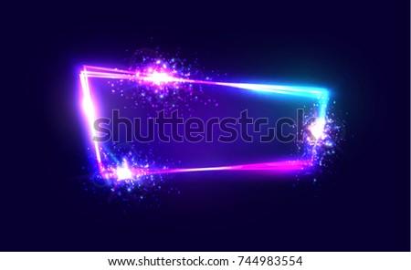 night club neon sign blank 3d