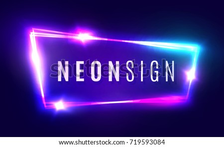 night club neon sign blank 3d