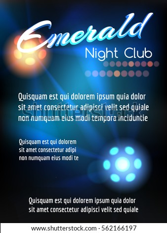 night club poster template with