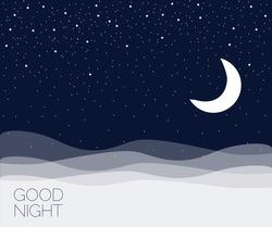 Night concept background. Good night. Vector illustration EPS 10