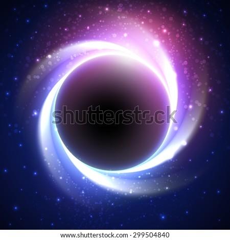 night cosmic vector background