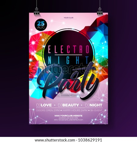 night dance party poster design