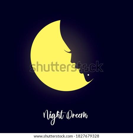 night dream vector design and