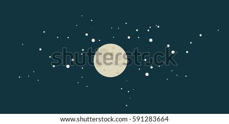 night flat vector illustration