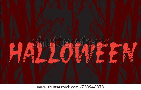 night forest in halloween