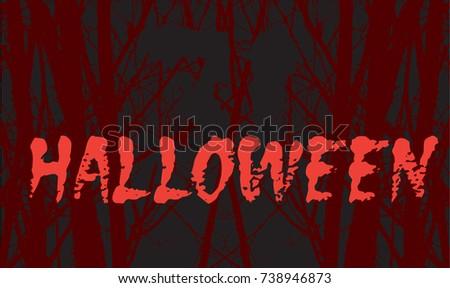 night forest in halloween