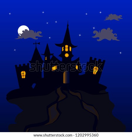 night illustration for the