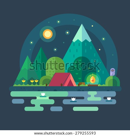 night landscape in the