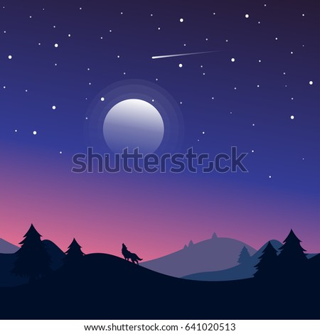 night landscape with