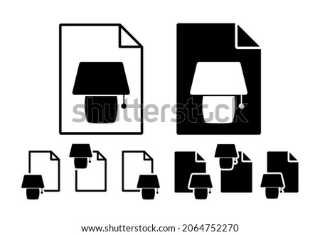 Night light vector icon in file set illustration for ui and ux, website or mobile application