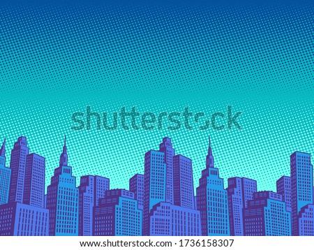 night modern city with