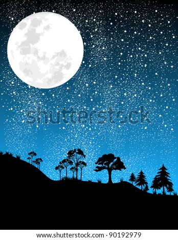 night moon illustration