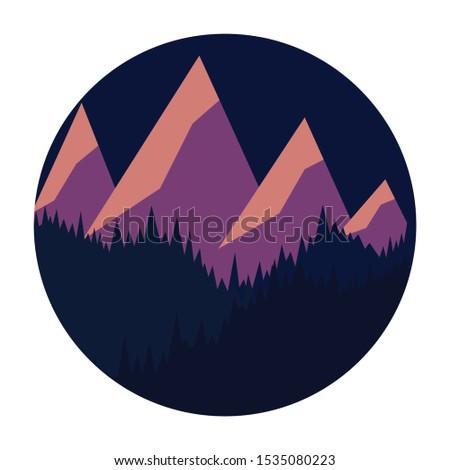 night mountain landscape four