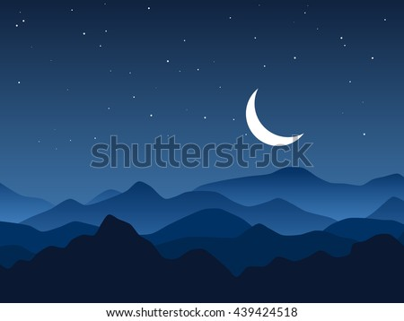night mountains vector