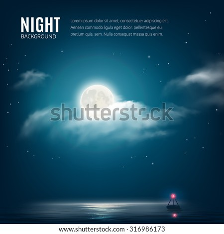 night nature background  cloudy