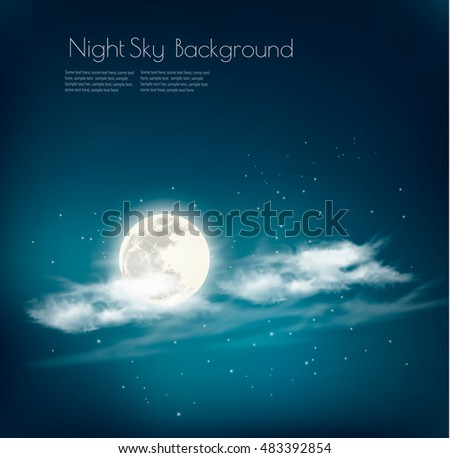 night nature sky background
