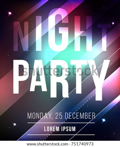 night party abstract vector