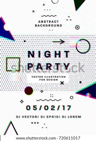 night party poster 80s disco
