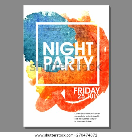night party vector flyer