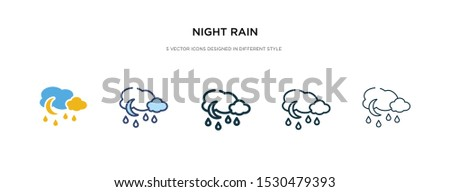 night rain icon in different