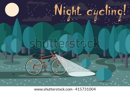 night riding on the bike
