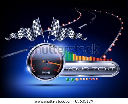 night road racing background