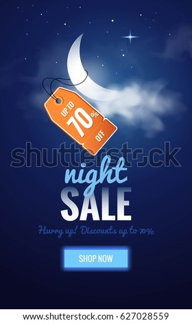 night sale dark banner sale
