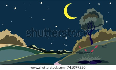 night scenic landscape times of