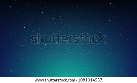 Night shining starry sky, blue space background with stars, cosmos