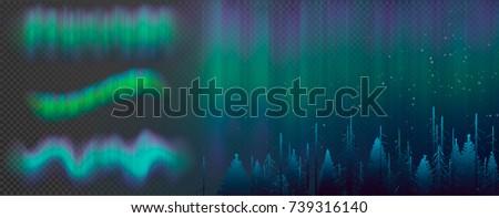 night sky  aurora borealis