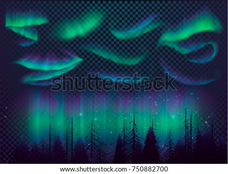 night sky  aurora borealis