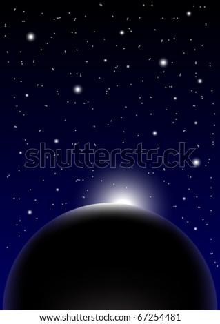 Night Sky Background - stock vector