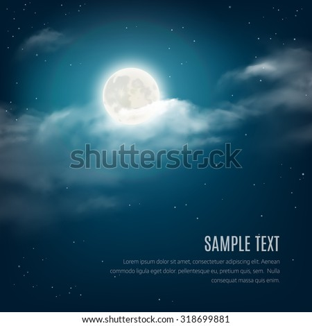 night sky background  cloudy