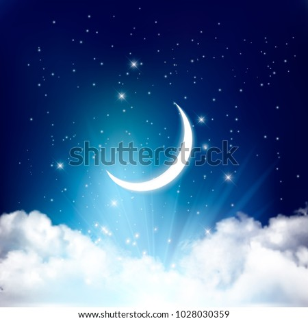 night sky background with with