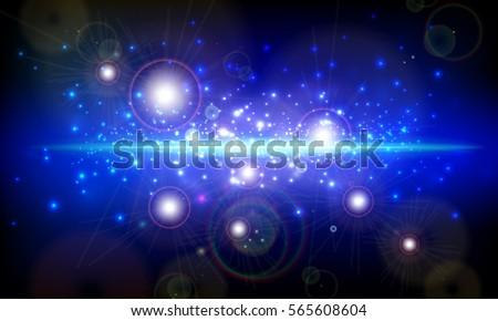 night sky  galaxy with stars