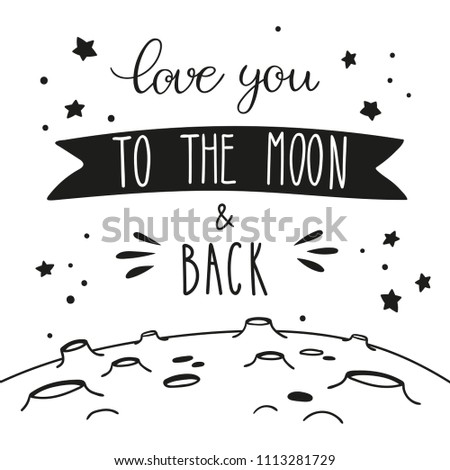 night sky lettering and lunar