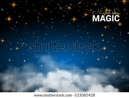 night sky magic cloud holiday