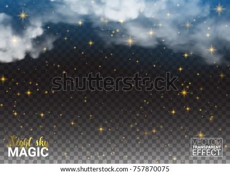 night sky magic stars and cloud