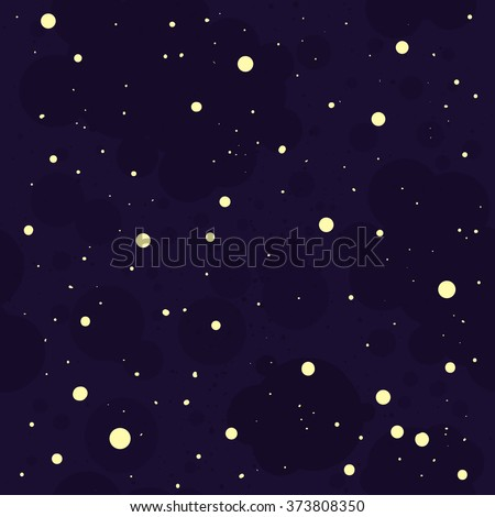 night sky pattern with hand