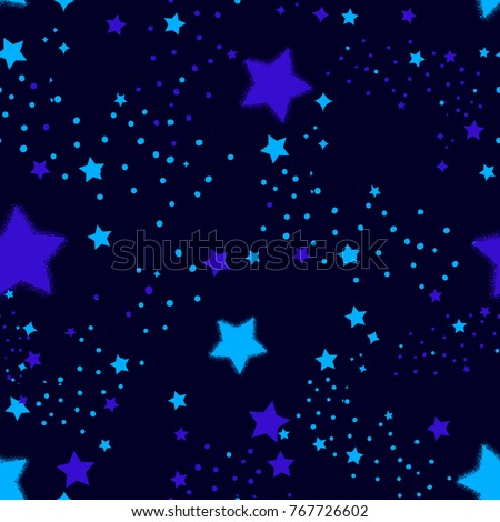 night sky seamless pattern with