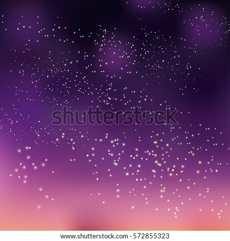 night sky stars concept vector