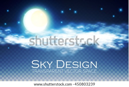 night sky transparent design
